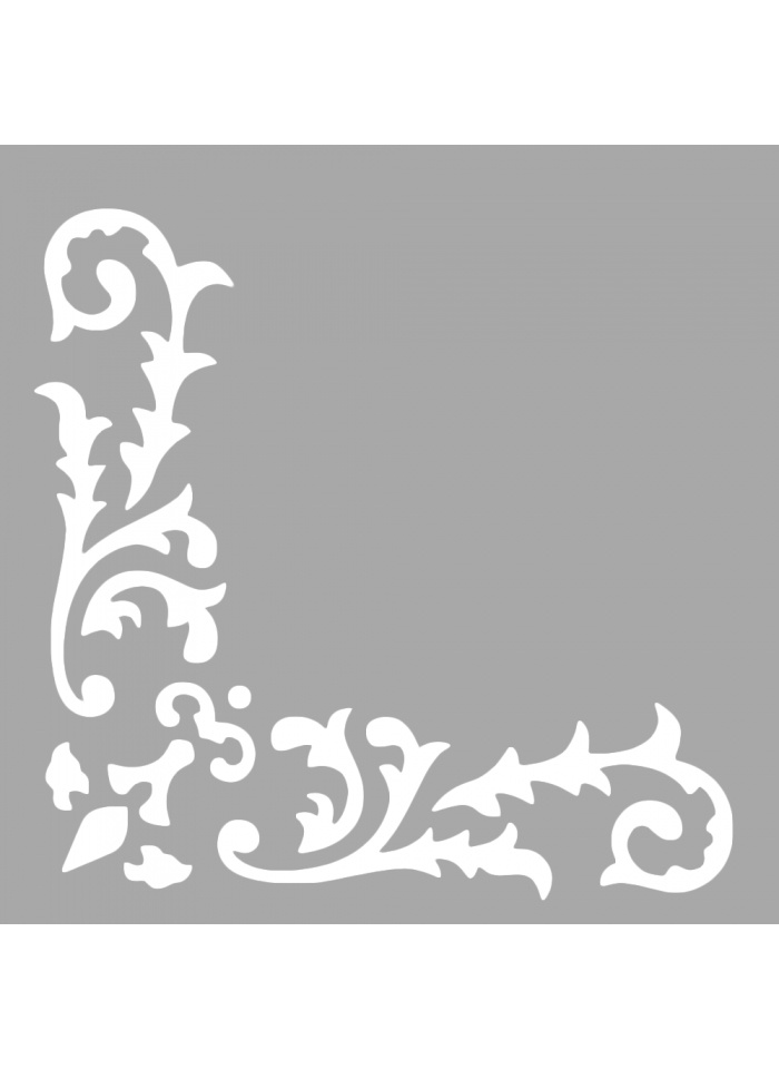 Standart Artikel Valentine Köşe Motif Stencil Tasarımı 30 x cm